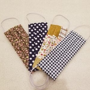4FOR$20 HANDMADE cotton fabric face mask